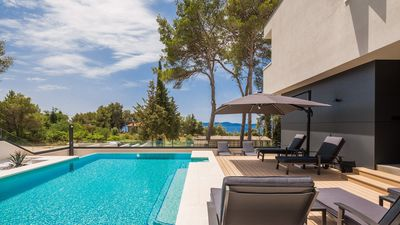 Photo for Luxurious Villa Grancaric, in Dalmatia,with a Pool