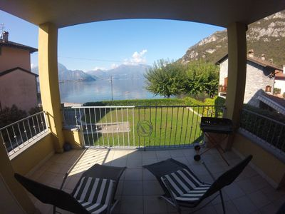 Photo for Residence White Beach Como front lake with private garage