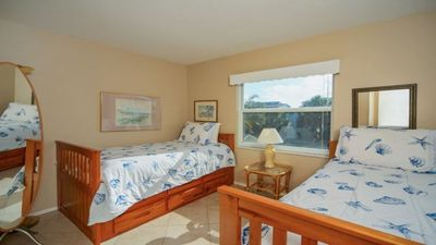 Photo for Gulf view and steps to beach! Sunsets from your balcony. Walk to town. Condo #3!