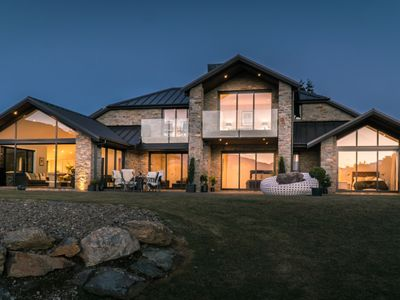 Photo for Large, family home with amazing views of Lake Wanaka, direct lake access and spa
