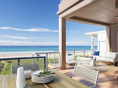 Photo for Heavenly beachfront 4 bedroom home on hedges avenue with rooftop pool and spa