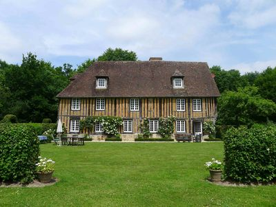 Photo for Secluded 15th Cent. Manor House with a large  pool in a landscaped setting