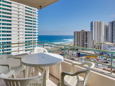 Photo for Oceanfront condo with shared pool, stunning views of the city & the sea!