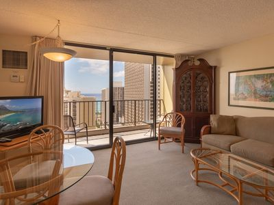 Photo for Block to Beach! Koko Resorts at the Waikiki Sunset 24th Floor Ocean View, Free Parking & Wifi