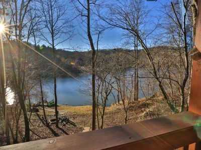 Photo for Lakeside Getaway offers spectacular Lake Buckhorn views where the bass and bluegill are abundant! No