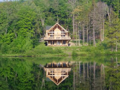 Photo for New Lakefront Log Home