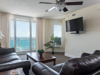 Photo for Bahama Sands -  804 Beautiful ocean front 3-bedroom unit with STUNNING views of the Atlantic!