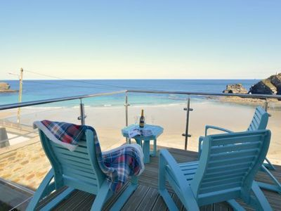 Photo for A simply stunning property with uninterrupted views of the beach and out to sea.