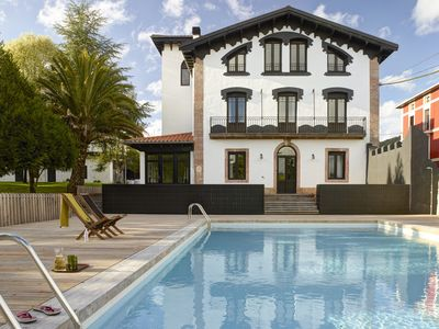 Photo for Luxury villa with private pool in the Basque Country