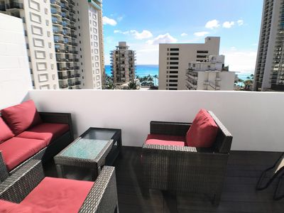 Photo for BEAUTIFUL OCEAN VIEW PENTHOUSE IN WAIKIKI and LARGE DECK