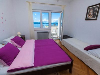 Photo for Apartment 2 + 2 with sea view, balcony, terrace, barbecue, parking, air conditioning