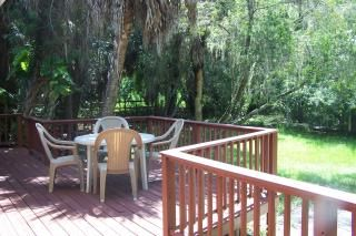 Private Deck Area Which Faces Our Gorgeous Pond!