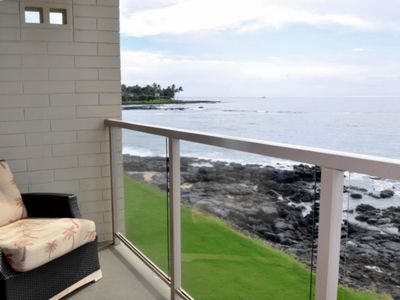 Photo for Stunning 180º Ocean View From 213/Private, Quiet, Second Floor Condo For Two