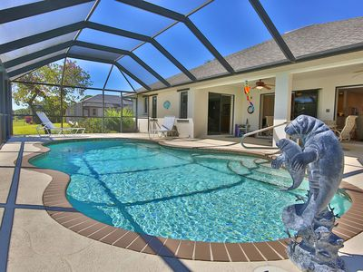 Photo for Private Paradise In Immaculate Home  Water View Angel's Paradise Saltwater Pool