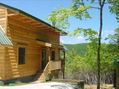 Photo for Timber Frame Cabin on Screamer Mountain - Panoramic Views!