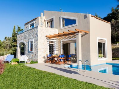Photo for This 3-bedroom villa for up to 8 guests is located in Margarites and has a private swimming pool, ai