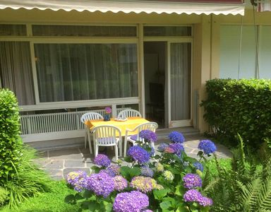 Photo for Garden apartment in a quiet residential area, with patio, ideal for couples