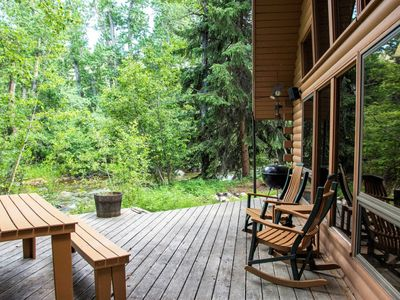 Photo for Get ready to adventure!  This cabin is home base, secluded and setting on Rock Creek makes the perfe