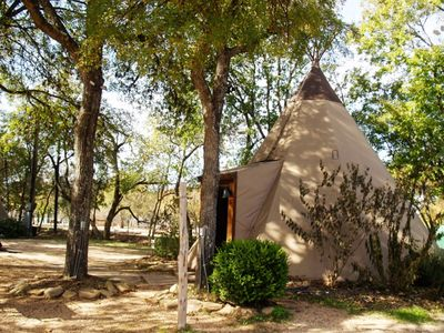 Photo for Amazing Tipis on the Guadalupe, sleep in a Tipi with all the comforts!