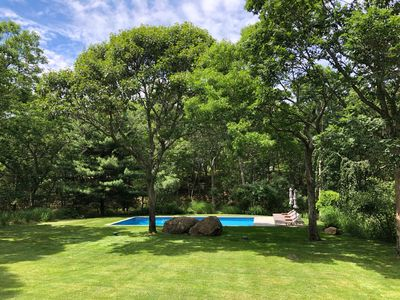 Photo for SPECTACULAR, BRIGHT & PRIVATE, W/ 2.2 ACRES & HEATED POOL IN EAST HAMPTON