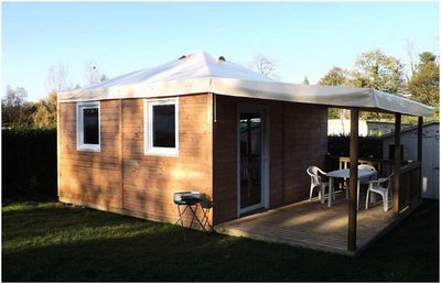 Photo for Camping de l'Orival *** - Chalet 3 Rooms 5 Persons with integrated terrace