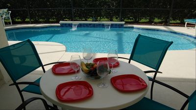 Photo for Villa with 4 Bedrooms and private pool. On gated Resort near Disney.