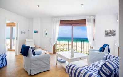 Photo for Enjoy stunning sea views from this gorgeous beach front Apartment