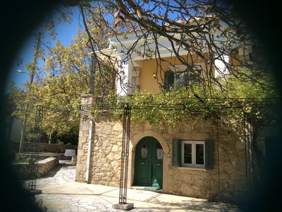 """Photo for """"Orestis"""" independent apartment in a 2storey stone house in Lefkada"""