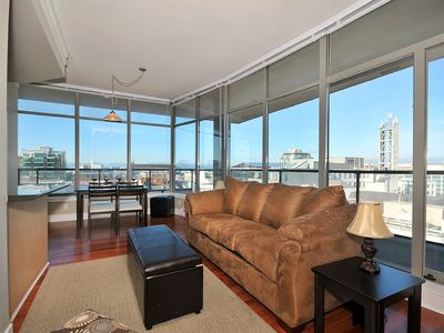 Photo for Downtown Victoria 1 Bedroom Condo With Sweeping Views of City and Mountains