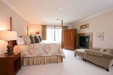 Lounge by the fire in Master Bedroom with a good book