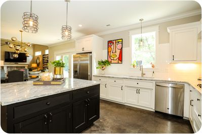 Spacious chef's kitchen!  Fully stocked.