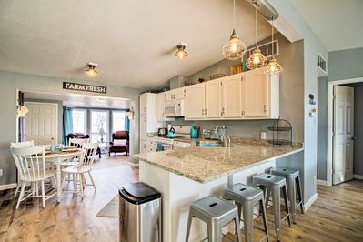 Enjoy 1,400 square feet of tastefully decorated & updated living space.