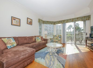 Access to the Balcony from the Living Area in 1102 Sea Crest