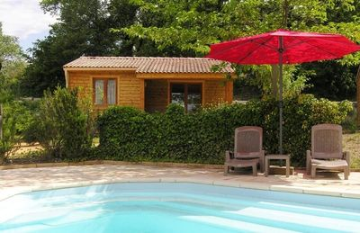 Photo for ECOLOGICAL WOOD HOUSE WITH POOL IN THE COUNTRYSIDE VAISON - MONT VENTOUX.