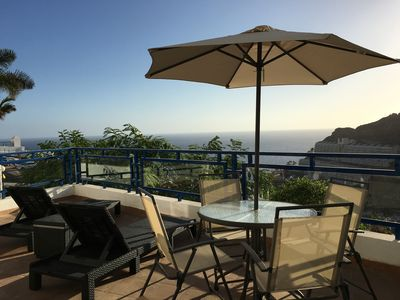 Photo for Dream landscape apartment with 30m2 terrace in Taurito!