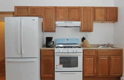 Kitchen - new cabinets and stove