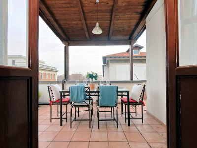 Photo for Toast Dazzling Sunsets On Large Terrace-Primo Piazza del Popolo-Spanish Steps