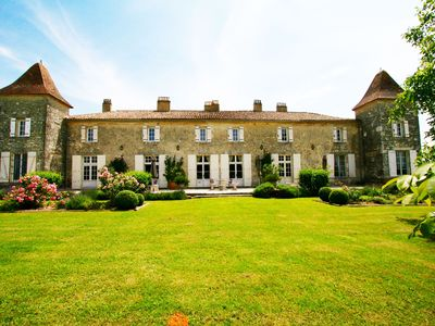 Photo for Chateau Des Egrons; Elegant and Magical with Tennis Court and Heated Pool