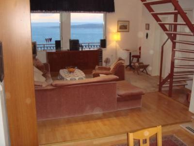 Living room with views to the island of Brac