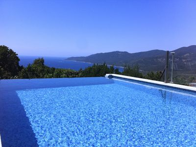 Photo for Part of villa pool pool house sea view South Corsica