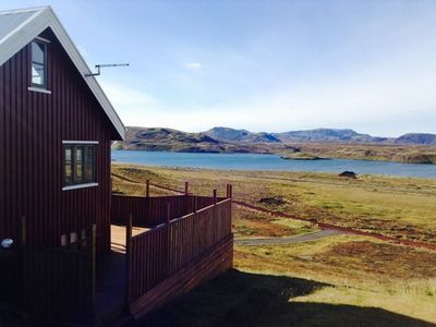 Photo for Luxury cottage by the Lake in the Golden Circle, Amazing Lake and Mountain Views