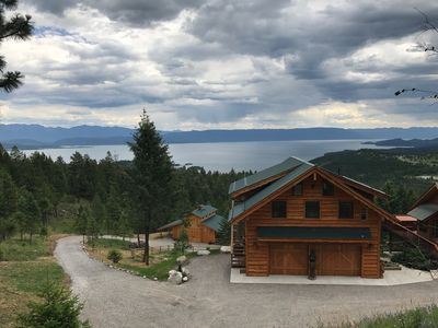 Amazing Vistas of Flathead Lake and Mountain Ranges from Studio and Barn