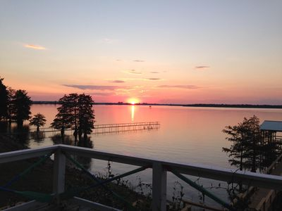Photo for Lake House with Beautiful Sunsets