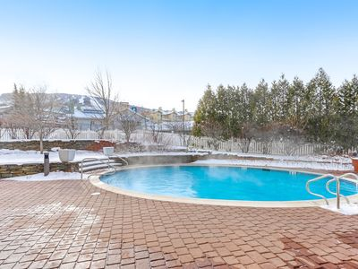 Photo for Stratton Mountain condo with shared pool, hot tubs, and sauna - Walk to lifts