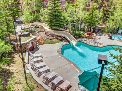 Photo for Ski-in/ski-out condo w/ deck & access to a pool, hot tub & more at Club Solitude