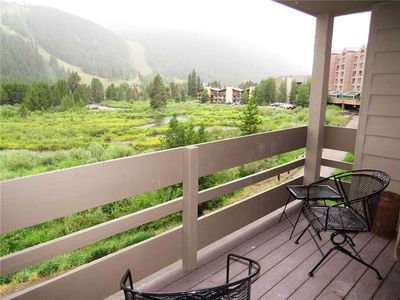 Photo for Pet Friendly- Walk, Shuttle to Keystone Activities, Dining. Deck with River and Mountain Views