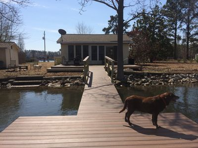 House view from dock (before our new floating dock was added in spring of 2018)