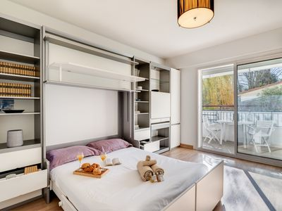 Photo for Sunny apartment with a romantic balcony by easyBNB