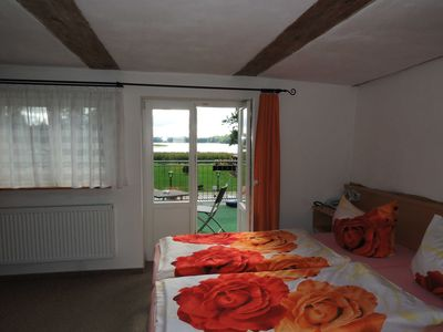 Photo for 06 double room with terrace and view of the Dobbertiner See - Insel-Hotel Dobbertin