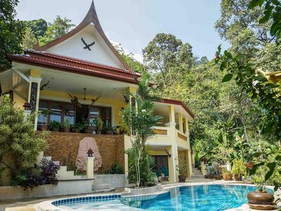 Photo for villa with pool in tropical garden